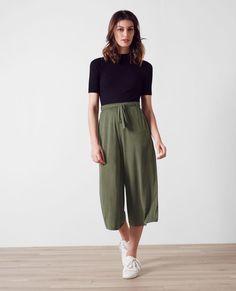Pantalon esprit jupe-culotte fluide Veronese Cavaliere