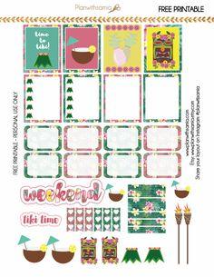 Plan with samia Tiki Time Planner Stickers