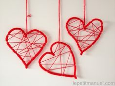 Pipe Cleaner Hearts - form & wrap colored twine around. Hang as a decoration Valentine Day Crafts, Be My Valentine, Diy For Kids, Crafts For Kids, Cadeau Parents, Crafts For Seniors, Senior Crafts, Mothers Day Crafts, Wedding Art