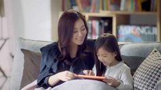 김희선 딸(?)과 함께 웅진북클럽 광고찍다!