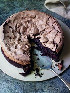Chocolate Meringue Brownie by Eric Lanlard