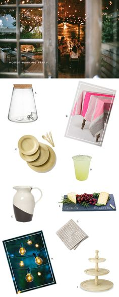 Everything you need for the perfect house warming party... | Oh Happy Day!
