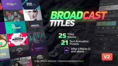 Buy Broadcast Titles by RoyalFX on VideoHive. TypeX is a powerful tool, that let's you make high quality animated titles in a one click. You can use a provided pa. Animation Tools, Text Animation, After Effects Intro Templates, After Effects Projects, Corporate Fonts, Text Types, What Is The Secret, How To Make Animations, Photoshop