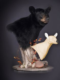 Black Bear Shoulder Pedestal  Sculpted by John Schmidt this black bear pedestal form features a new lip line, pre-installed artificial nose, redesigned jowls, accurate ear base design, and an improved head / neck junction. Together these features combine to provide exceptional fit and create a robust look that makes even smaller bears look big and blocky.  http://www.mckenziesp.com/New-North-American-Forms-C5119.aspx?