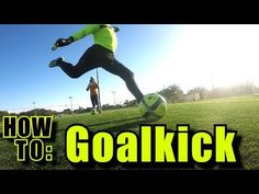 How to: Goal kick l Long ball technique l Kick the ball farther -. Informations About How to: Goal Soccer Pro, Soccer Goalie, Soccer Drills, Soccer Coaching, Kids Soccer, Soccer Stars, Soccer Ball, Volleyball, Morgan Soccer