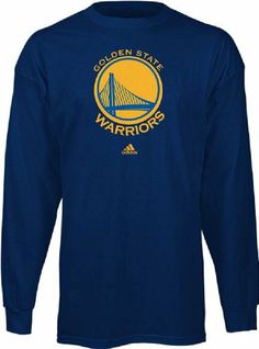Golden State Warriors Blue Long Sleeve Primary Logo T-Shirt Large