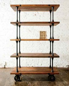 shelving USE CUTTING BOARDS MAKE A BIT SMALLER LOVE THE LOOK GREAT IDEA...