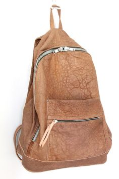 Khoi Le - Pebbled Lambskin Leather Backpack