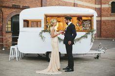 caravan, vintage caravan, caravan bar, wedding catering, event catering, gold coast tipis, gold coast, marquee hire
