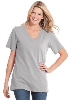 Woman Within Plus Size Perfect V-Neck Tee plus size 14/16 | Clothing, Shoes & Accessories, Women's Clothing, T-Shirts | eBay!