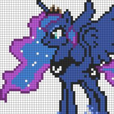 Princess Luna Perler Beads Idea