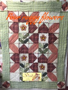 Four raggy flowers by Sissi Gutiérrez (Sissi Quilting & Stitch)