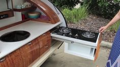 Living in a shoebox | You can nearly double the size of the Gidget Retro Teardrop Camper by simply sliding it out