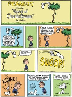 PEANUTS G'day folks, Time for some humour from Charlie Brown, courtesy of a very famous cartoonist, Schulz. Clancy's comment: There ya go. Hope these put a smile on ya dial. Snoopy Cartoon, Snoopy Comics, Peanuts Cartoon, Peanuts Snoopy, Peanuts Comics, Charlie Brown Comics, Charlie Brown And Snoopy, Happy Comics, Snoopy Quotes