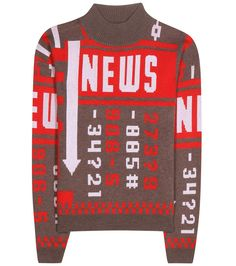 J.W.ANDERSON Printed Wool-Blend Sweater. #j.w.anderson #cloth #sweater