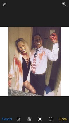 the purge // couple costume