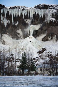 Frozen Waterfall, between Jokulsarlon and Vik