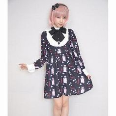 Buy 'KOKOkim – Long-Sleeve Tie-Neck Printed Dress' with Free Shipping at YesStyle.com.au. Browse and shop for thousands of Asian fashion items from Japan and more!