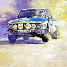 1973 Rallye Of Portugal Bmw 2002 Warmbold Davenport Painting