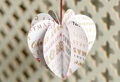 Paper Christmas decorations to make, with free templates - just need to get some nice paper