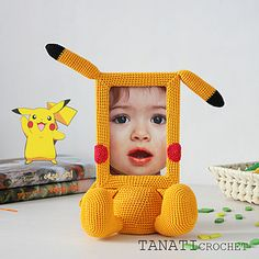 This is a crochet pattern (PDF file) NOT a finished doll you see on the photos! Gato Crochet, Crochet Baby, Knit Crochet, Baby Clothes Blanket, Foto Frame, Pikachu, Diy Frame, Baby Room Decor, Crochet Crafts