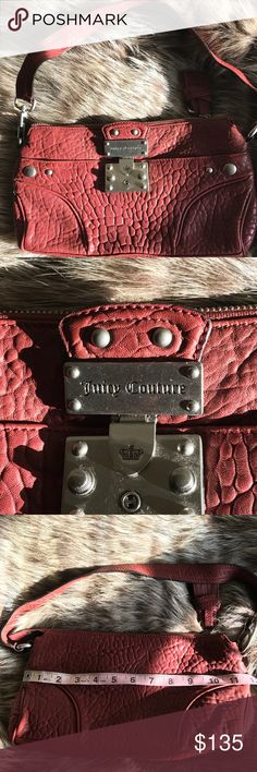 JUICY COUTURE LEATHER SHOULDER BAG JUICY COUTURE LEATHER SHOULDER BAG. 2009 COLLECTION. Juicy Couture Bags Shoulder Bags