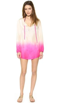ombre silk cover up