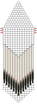 Graph for Porcupine Quill Earrings - post also has some pattern samples ~ Seed Bead Tutorials