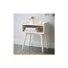 West Elm Maggie - Nightstand Open, White (285 AUD) ❤ liked on Polyvore featuring home, furniture, storage & shelves, nightstands, white, white lacquer nightstand, white lacquer night table, white lacquer furniture, storage furniture and white lacquer bedside table