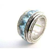 Blue Topaz Spinner Ring