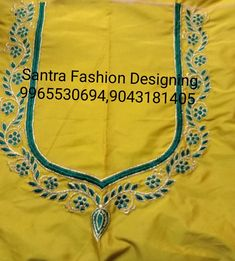 Best Blouse Designs, Simple Blouse Designs, Blouse Neck Designs, Fabric Colour Painting, Kutch Work Designs, Hand Work Blouse Design, Maggam Works, Embroidery Suits, Thread Work