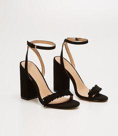 Image of Leafed Block Heel Sandals