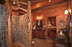 Nice bathroom but I'd like river rocks instead of the tiles in the shower .... 'n maybe a few other changes ... pretty picky for someone who only has a pic of it 'n doesn't even own that ... lol :)))))