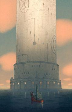 Matt Rockefeller ~ Concept Art: The Legend of Zelda : Wind Waker Wind Waker, Hayao Miyazaki, Geeks, Concept Art World, The Legend Of Zelda, Environment Concept, Video Game Art, Breath Of The Wild, Science Fiction