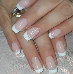 70 Trendy Designs Acrylic Nails to Try - Polish and .- 70 Trendy Designs Acrylic Nails to Try – Polishing and Pearls – – # Acrylic Nails - Acrylic French Manicure, French Manicure Nail Designs, French Tip Nails, Acrylic Nail Designs, Nail Manicure, My Nails, Nail Art Designs, Nails Design, French Manicure With Glitter