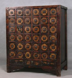 Antique Chinese Apothecary or Medicine Cabinet / China / 19th c ...