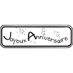 Joyeux anniversaire Tampons, Digi Stamps, Silhouette Cameo, Slogan, Gift Tags, Greeting Cards, Messages, Lettering, Happy
