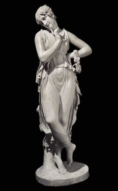 (Dancer with finger on her chin)  by Antonio Canova, 1814.