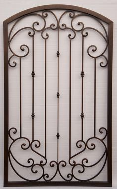 Wrought iron gates (aka: ornamental iron gates): Affordable Fence and Gates has been building wrought iron gates in Tucson and Southern Arizona in all. Wrought Iron Gate Designs, Wrought Iron Wall Art, Wrought Iron Gates, Iron Windows, Iron Doors, Gate Decoration, Front Gate Design, Iron Garden Gates, Steel Doors