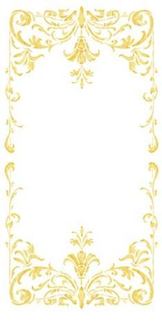 This beautiful classic turn of the century wall stencil panel will add the wow to your formal living area. Wall Stencil Designs, Tin Tiles, Goldwork, Borders And Frames, Boarders, Wow Products, Royal Icing, Islamic Art, Filigree