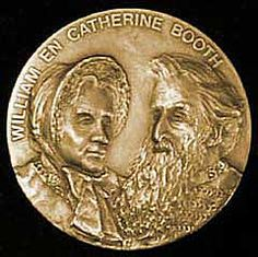 Portrait of William und Catherine Booth on the medal
