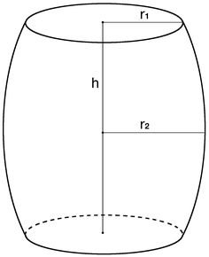 Calculate the volume of a barrel in cubic feet, cubic inches, cubic meters, and more. Find the capacity of a barrel in gallons and liters. Vintage Suitcases, Vintage Luggage, Wood Mug, Volume And Capacity, Math Formulas, Modern Chairs, Modern Furniture, Furniture Design, Cubic Foot