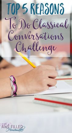 Wondering why you should enroll your teen into Classical Conversations Challenge? I am sharing 5 tips + a HUGE Giveaway you won't want to miss!  via @AFHomemaker