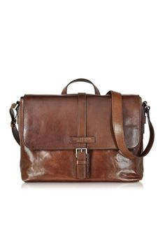 7d4e780b3e The Bridge Marcopolo Viaggio Marrone Leather Messenger Bag (136945 RSD) ❤  liked on Polyvore