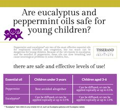 Is it safe to use Peppermint and Eucalyptus essential oils with small children? Why not? And how to be safe when using essential oils for kids.
