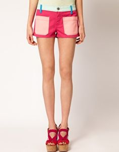 Textile Elizabeth and James Robbie Shorts With Patch Pockets