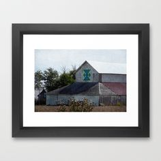 Rural Barn With A Quilt Framed Art Print by Angelandspot - $31.00