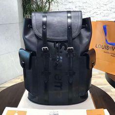 5d7fab7fc8d7 Louis Vuitton x Supreme Christopher Backpack PM M53413 Epi Leather Louis  Vuitton Mens Bag
