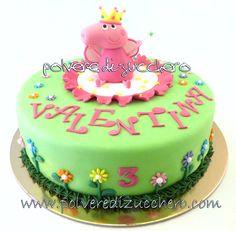 Polvere di Zucchero: cake design e sugar art. Corsi decorazione torte,biscotti,cupcakes e fiori: Torta Peppa Pig... fatina o principessa?!