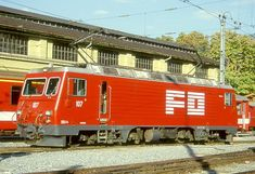 HGe 4/4 II 107 (Foto: Manfred Möldner) Locomotive, Train, Vehicles, Photos, Zug, Rolling Stock, Locs, Strollers, Vehicle